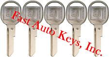"""5 NEW GM Logo OEM DOORS/TRUNK """"B"""" Key Blank Uncut 320589 B49P B49 01154611 5-B"""