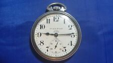 Vintage Walton 17j Open Face Pocket Watch For parts A. Hirsch Co Movement
