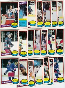 1980 OPC Team SET Lot of 21 New York RANGERS NM- o-pee-chee ESPOSITO BECK Anders