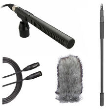 Rode NTG-1 Shotgun Microphone Boom Kit w/ Boompole, Deadcat & 20' XLR Cable