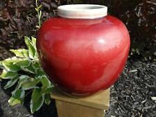 Chinese Porcelain Langyao Vase Copper-Red Oxblood Jar or Pot Antique Qing 19th