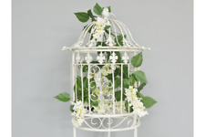 Clearance WHITE BIRD CAGE WITH STAND FOR SMALL BIRDS 111cm