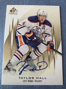 2013-14 SP GAME USED AUTOGRAPH #68 TAYLOR HALL