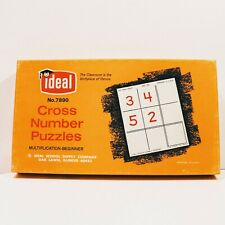 V 00006000 intage Math Cross Number Multiplication Puzzles