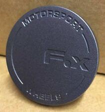 4 X FOX RACING MS005 MS006 MS007 ALLOY WHEEL CENTRE CAPS (MATT GREY) 60MM