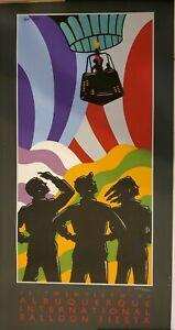 Signed - Albuquerque 1991 Balloon Poster H Ricks #2606/5000