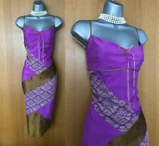 Karen Millen Silk Jacquard Strappy Summer Holiday Occasion Midi Dress UK 14 42