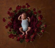 Newborn Photography  Burgundy Basket Filler Suffer Prop RTS UK seller