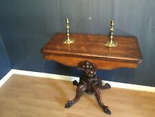 Excellent quality early Victorian Rosewood pedestal base card table circa 1860