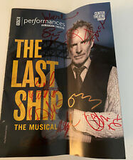 STING Signed The Last Ship Theater Program