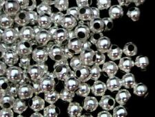 Silver Plated Any Purpose Round Jewellery Making Beads