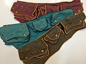 Unisex Ladies/Men's Hippie Boho Festival Jogging Adjustable Money Belt 5 Pockets