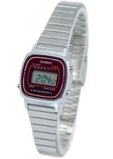New Casio Ladies Digital Quartz Alarm Dress Watch LA670W LA-670WA-4D New