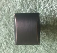 Cabinet Hardware Square Knobs kq31 Brushed Oil Rubbed Bronze Pull 1-3//16/""