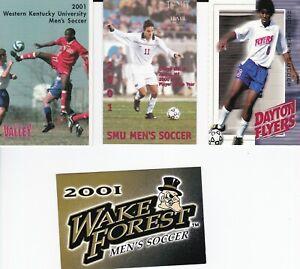 2001 NCAA Men's Soccer Pocket Schedules - Lot of 4
