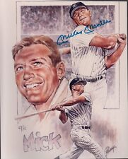 Mickey Mantle picture signed & Certificate