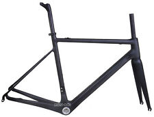 58cm Carbon Road Bike Frame Fork Seatpost Di2 Braze-on 700C UD Matt BSA 25C