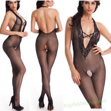 Sexy lingerie diamonds bodystocking crotchless fishnet bodysuit tights nightwear