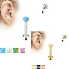 Opal Tragus Surgical Steel Body Piercing Jewellery