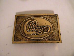 Vintage Chicago Belt Buckle brass Music Band