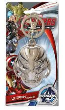 Marvel Comics Avengers Ultron Face Metal Pewter Key Ring Keychain, NEW UNUSED