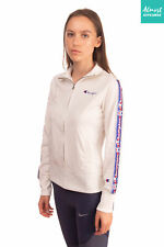 Champion Track Jacket Size Xs Contrast Branded Straps Long Sleeve Full Zip