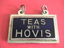 Vintage TEAS with HOVIS enamel sign 1930s Tea shop rare item
