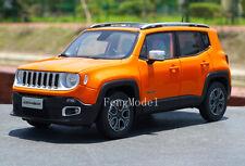 1:18 Scale Jeep Renegade Metal Diecast Model Car collection Decoration Orange