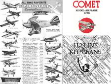 TRIPLE THREAT!!!   BERKELEY, COMET & FLYLINE MODELS Kit Plans on CD