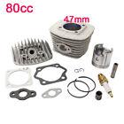 47mm 60cc 80cc Gas Motorized Bicycle Bike Engine Cylinder Head Set Piston Kits