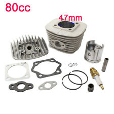47mm 60cc 80cc Gas Motorized Bicycle Bike Engine Cylinder Head Set Piston Kits