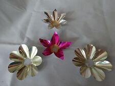 Vintage TIN / ALUMINUM Foil CHRISTMAS Light Reflectors Lot of 4