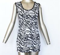 Ladies  women Stretchy **U-NECK** top or leggings Zebra print tops t-shirt vest