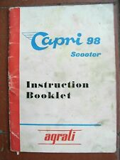 Capri 98 Scooter Instruction Booklet