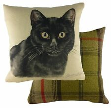 "Cushion Covers Waggydogz Black Cat Cushion Cover 17""  24980"
