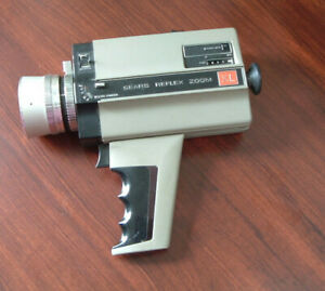 Vintage sears reflex zoom XL movie camera sold as is for parts movie photo prop