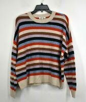 Madewell Womens Striped James Pullover Sweater Crew Neck Long Sleeve Wool M $88