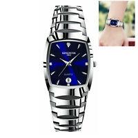 Hommes Femmes Quartz Analog Watch Montre  acier inoxydable Date Montre-bracelet