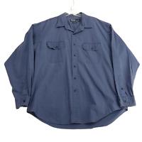 Polo Ralph Lauren Men XL Button Down GI Shirt Faded Navy Blue Two Button Pockets
