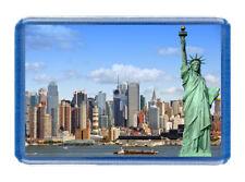 New York Fridge Magnet - Large Size (7cm x 4.5cm) - Great Gift Idea - Tourism