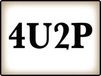 4U2P Bathroom Toilet Wall STICKER Decal Sign - Funny Humor Door Sign GREAT GIFT