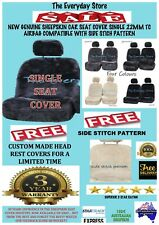 New Premium Genuine Sheepskin Car Seat Cover SINGLE 22MM Airbag Compatible 3yr