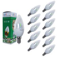 Bombillas LED Vela E14 3W 5W 6W 8W Packs 6/12 Unidades 500LM Luz Fría/Cálida A++
