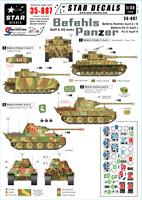 Star Decals Befehls-Panzers 1/35 decals