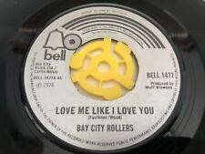 "Bay City Rollers - Love Me Like I Love You 7"" Vinyl Single Record"