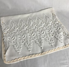 More details for vintage linen and lace nightdress/pyjama case/cushion cover 1940s/50s vgc