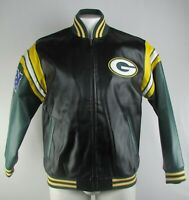 Green Bay Packers NFL G-III Men's Full-Zip Pleather Bomber Jacket