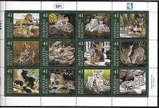 MARSHALL ISL SC 907 NH MINISHEET OF 2008 - ANIMALS - WILD CATS