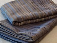 Pair Of Drapes! Beautiful Blue Silver Gold Stripes! Very Nice Condition!
