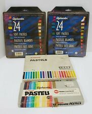 Lot of Pastels, Weber Costello and Koss Square Pastels and Quartet Alphacolor